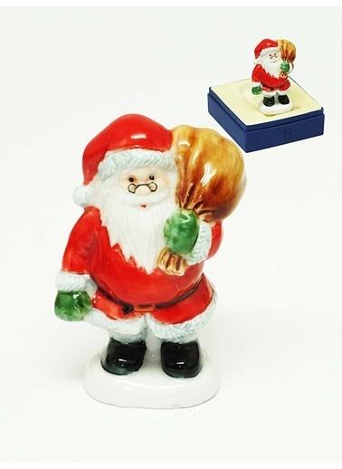 Kitchen Love El Yapımı Porselen -Minyatür Noel Baba Biblo Renkli